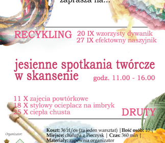 Recykling - jesienne spotkania twórcze w skansenie.