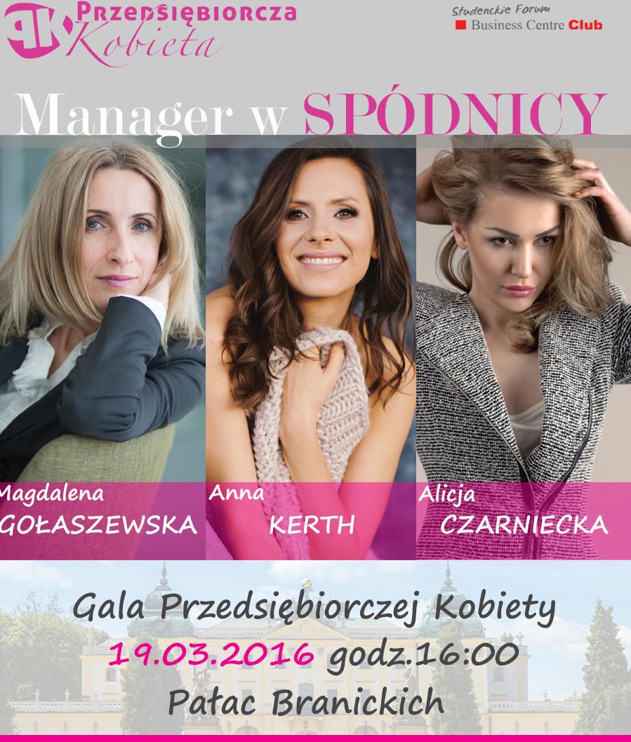 """""""Manager w spódnicy"""" kolejna odsłona projektu """"Przedsiębiorcza Kobieta""""."""