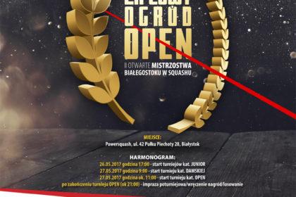Jako Patron Medialny zapraszamy na Drugie Otwarte Mistrzostwa Białegostoku w Squashu - Lipcowy Ogród OPEN B+