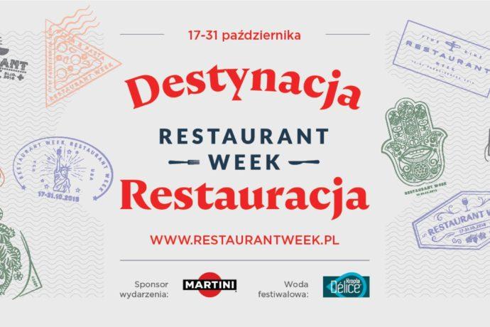 DESTYNACJA RESTAURACJA! 17 października rusza Restaurant Week!