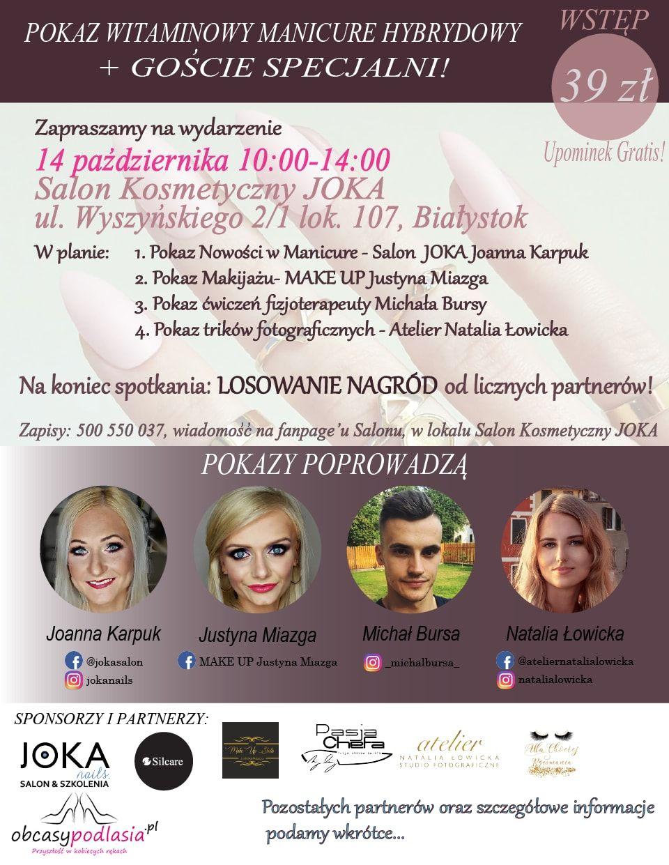 Salon Kosmetyczny JOKA zaprasza na event!