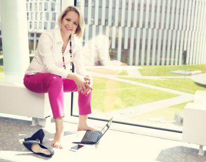 """""""Budowanie marki i biznesu, które są spójne ze mną, pomaga w osiąganiu kolejnych sukcesów"""". Diana Pakulska-Okraska, laureatka plebiscytu Lady Business Awards."""