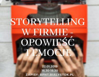 Opowieść i emocje – storytelling w firmie. Warsztaty w Centroom
